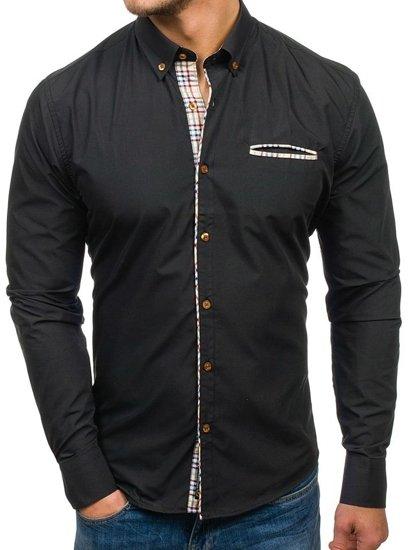 Pánská košile BOLF 5793 černá
