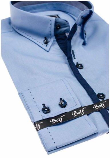 Pánská košile BOLF 5814 blankytná