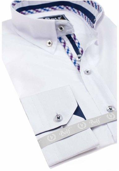 Pánská košile BOLF 5820 bílá