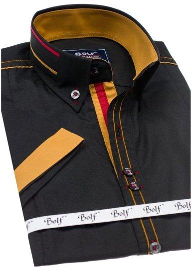 Pánská košile BOLF 6513 černá