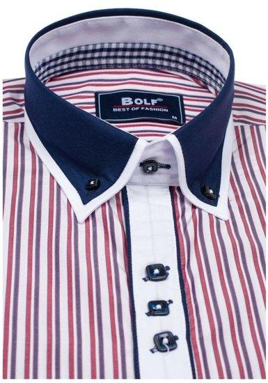 Pánská košile BOLF 6884 červená