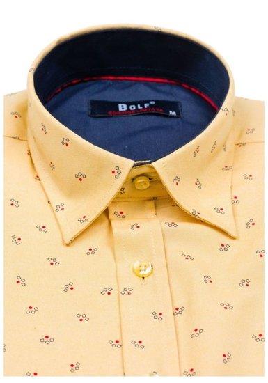 Pánská košile BOLF 6886 žlutá