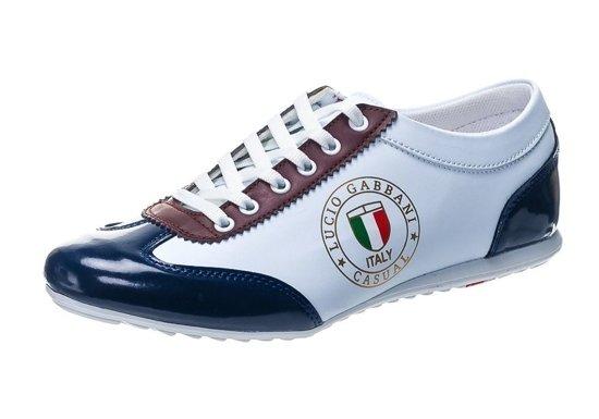 Pánská obuv LUCIO GABBANI 610-2 bílo-bordová
