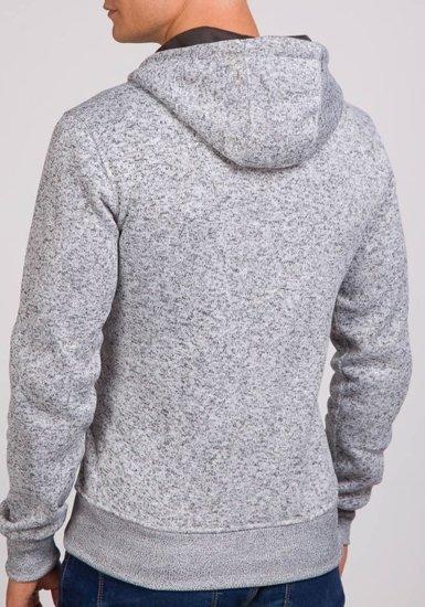Pánská šedá mikina s kapucí Bolf 2155
