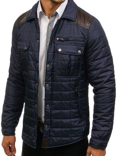 Pánská tmavě modrá přechodná bunda Bolf 004