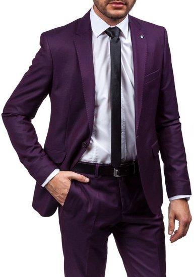 Pánský bordový oblek Bolf 5005-2