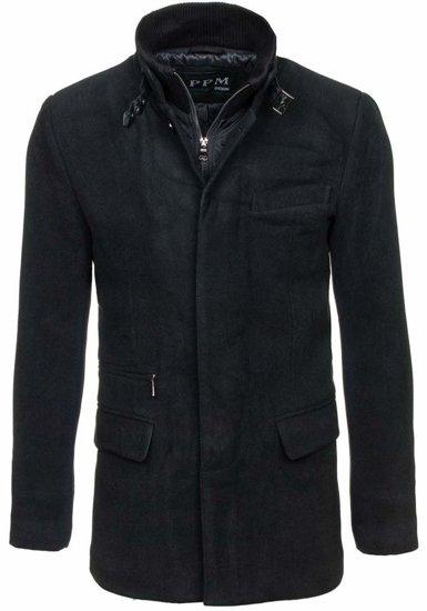 Pánský kabát PPM 8777 černý