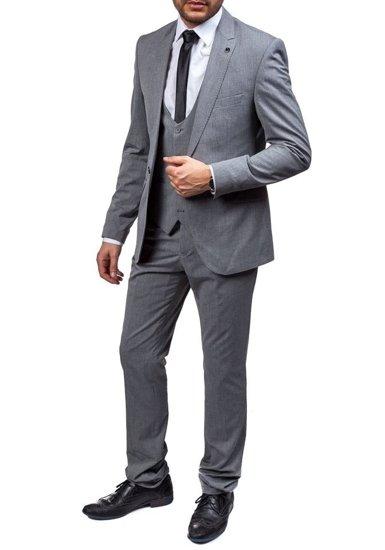 Pánský šedý oblek  Bolf 5005