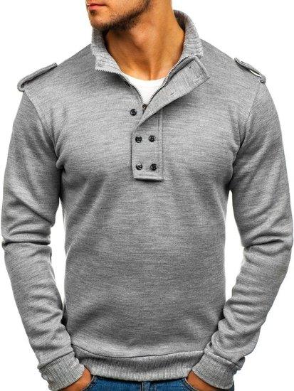 Pánský svetr BOLF 1132 šedý