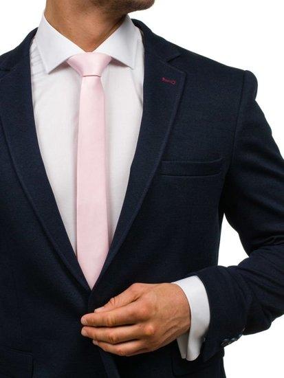 Růžová pánská elegantní kravata Bolf K001