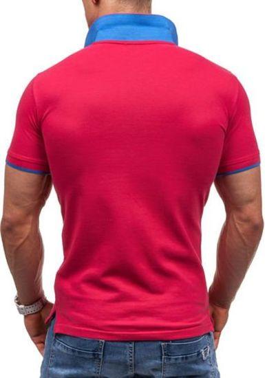 Růžová pánská polokošile Bolf 7344