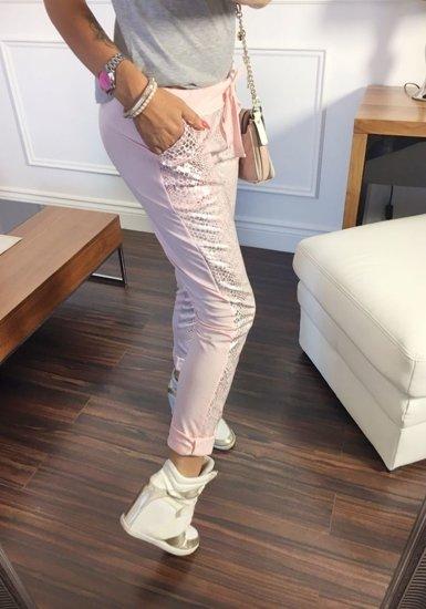 Růžové dámské tepláky Bolf 0840