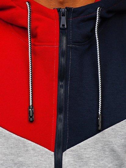 Šedá pánská mikina na zip s kapucí Bolf KS2172