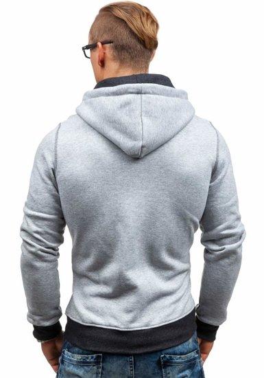 Bluza męska z kapturem szara Denley GIORGIO