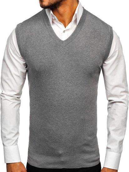 Šedá pánská pletená vesta Bolf H1939