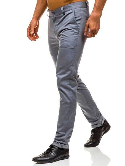 Šedé pánské chino kalhoty Bolf 0204