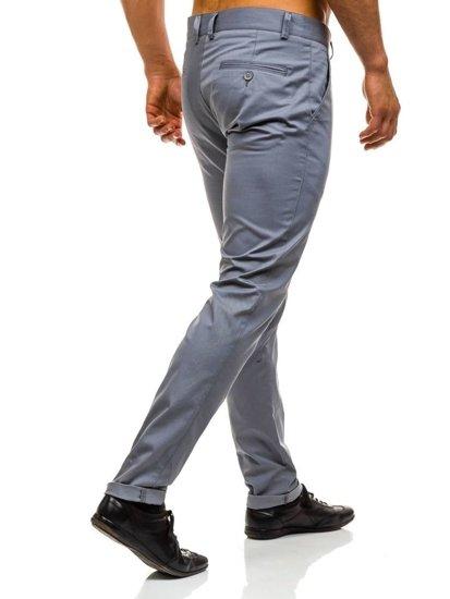 Šedé pánské společenské kalhoty Bolf 0204
