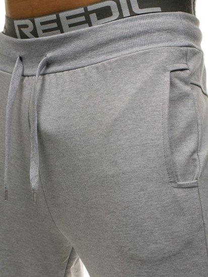 Šedé pánské jogger tepláky Bolf W2667