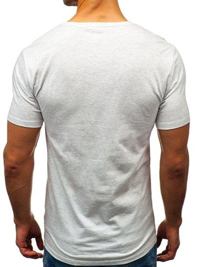Šedé pánské tričko Bolf 7483