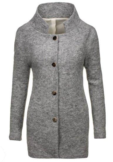 Šedý dámský kabát Bolf 1950