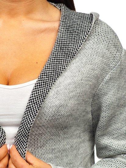 Šedý dámský svetr kardigan Bolf 05