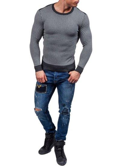 Šedý pánský svetr Bolf 7006