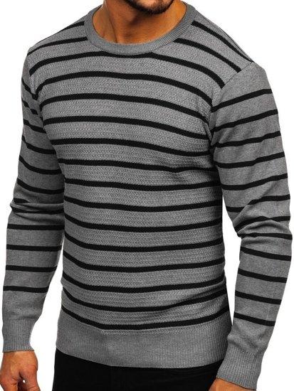 Šedý pánský svetr Bolf H6052
