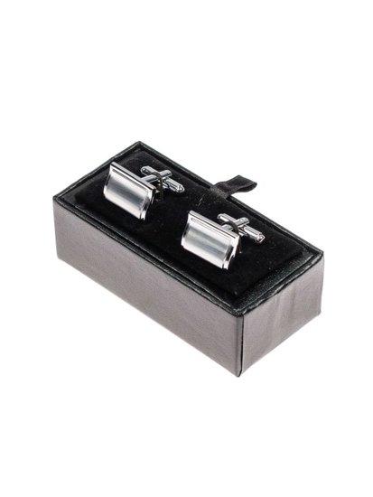 Stříbrné pánské manžetové knoflíčky Bolf S032