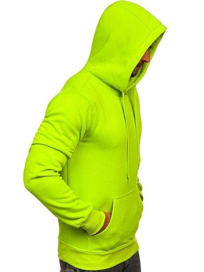 Světle celadonová pánská mikina s kapucí Bolf 2009