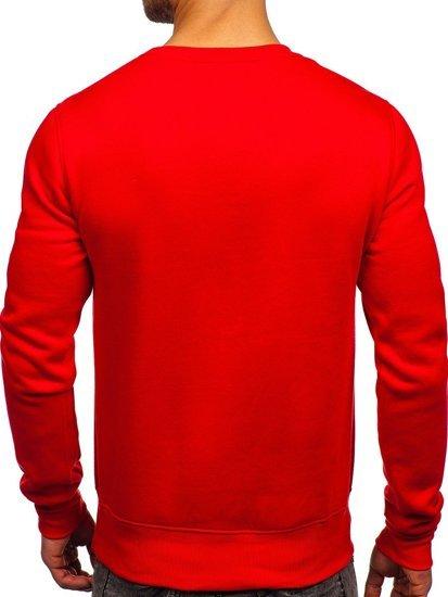 Světle červená pánská mikina bez kapuce Bolf 2001