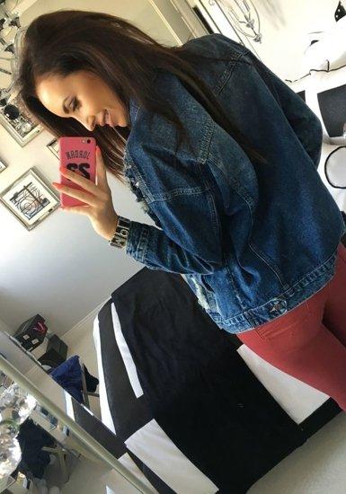Tmavě modrá dámská džínová bunda Bolf 5198