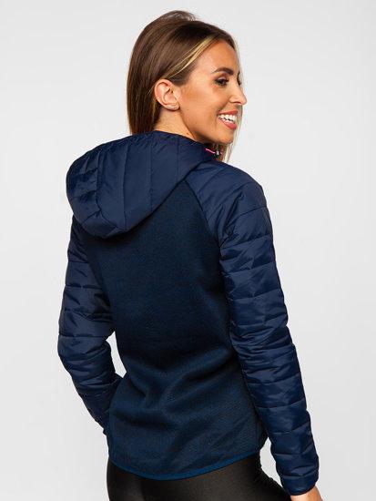 Tmavě modrá dámská sportovní přechodová bunda Bolf KSW4005