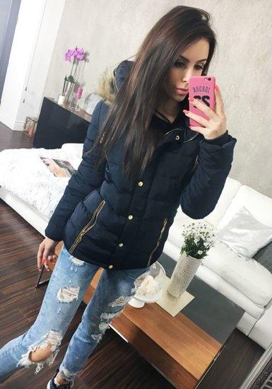 Tmavě modrá dámská zimní bunda Bolf 21