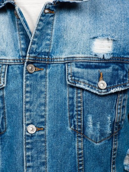 Tmavě modrá pánská džínová bunda Bolf 6611B