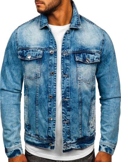 Tmavě modrá pánská džínová bunda Bolf QS9270