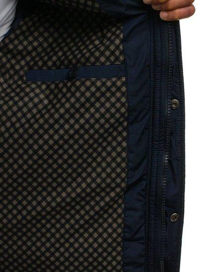 Tmavě modrá pánská přechodná bunda Bolf 1666