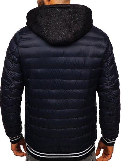 Tmavě modrá pánská přechodová bunda Bolf 5331