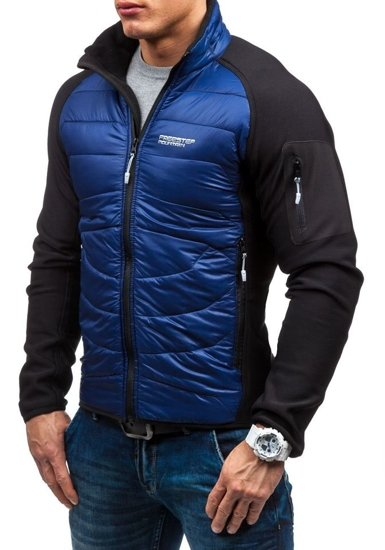 Tmavě modrá pánská softshellová bunda Bolf S015