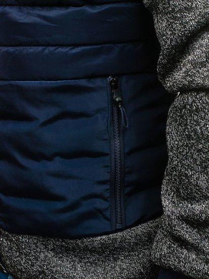 Tmavě modrá pánská sportovní bunda Bolf AK73Z