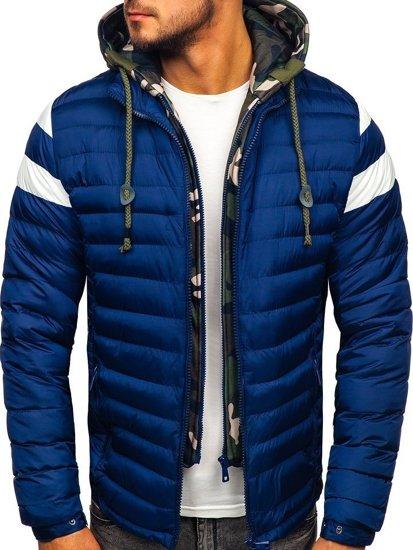 Tmavě modrá pánská sportovní zimní bunda Bolf 50A462