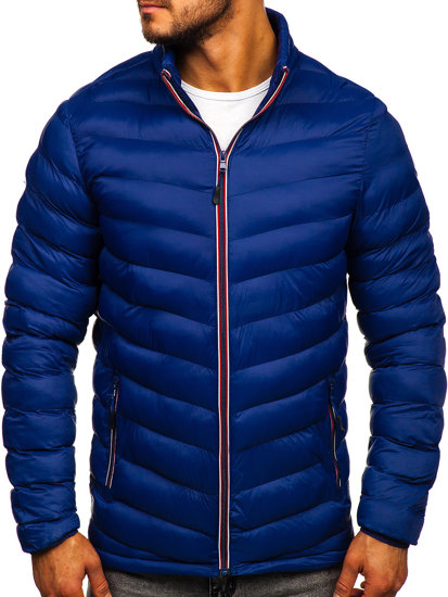 Tmavě modrá pánská sportovní zimní bunda Bolf SM71