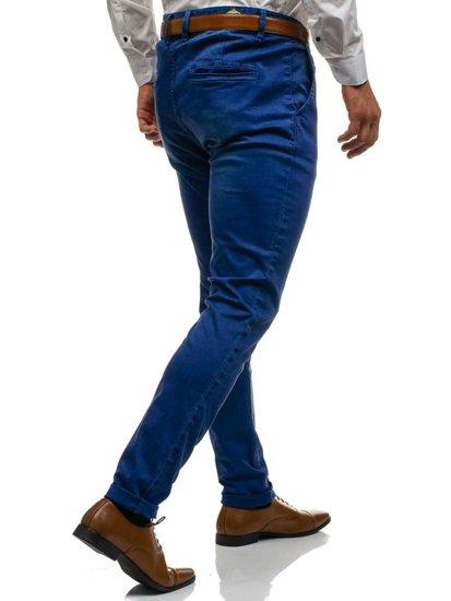 Tmavě modré pánské chino kalhoty Bolf 7315