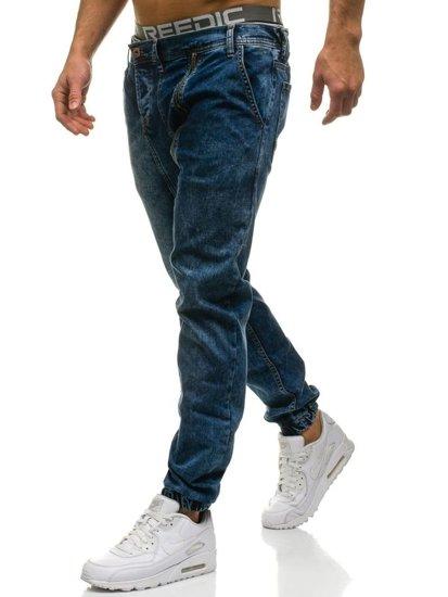 Tmavě modré pánské džínové jogger kahoty Bolf 408-1