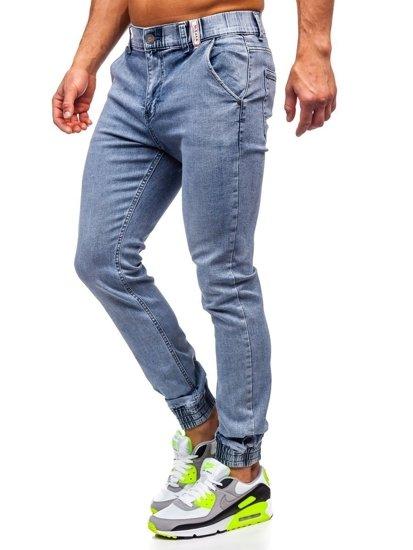 Tmavě modré pánské džínové jogger kahoty Bolf KA1637