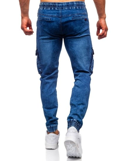 Tmavě modré pánské džínové jogger kapsáče Bolf HY688