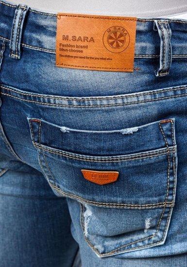 Tmavě modré pánské džíny Bolf 8952
