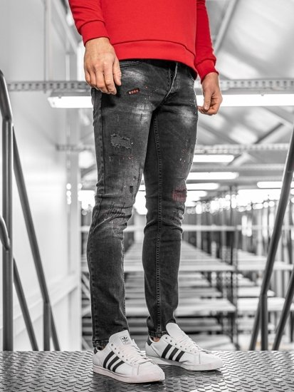 Tmavě modré pánské džíny regular fit Bolf 4014