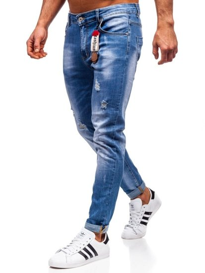 Tmavě modré pánské džíny regular fit Bolf KA297
