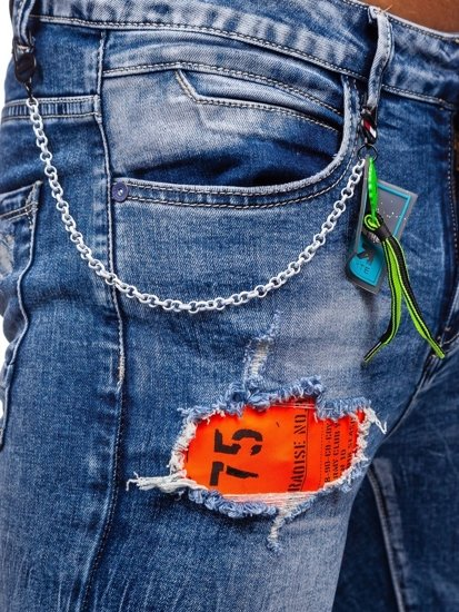 Tmavě modré pánské džíny slim fit Bolf 85002S0