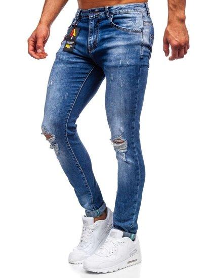 Tmavě modré pánské džíny slim fit Bolf 85005S0